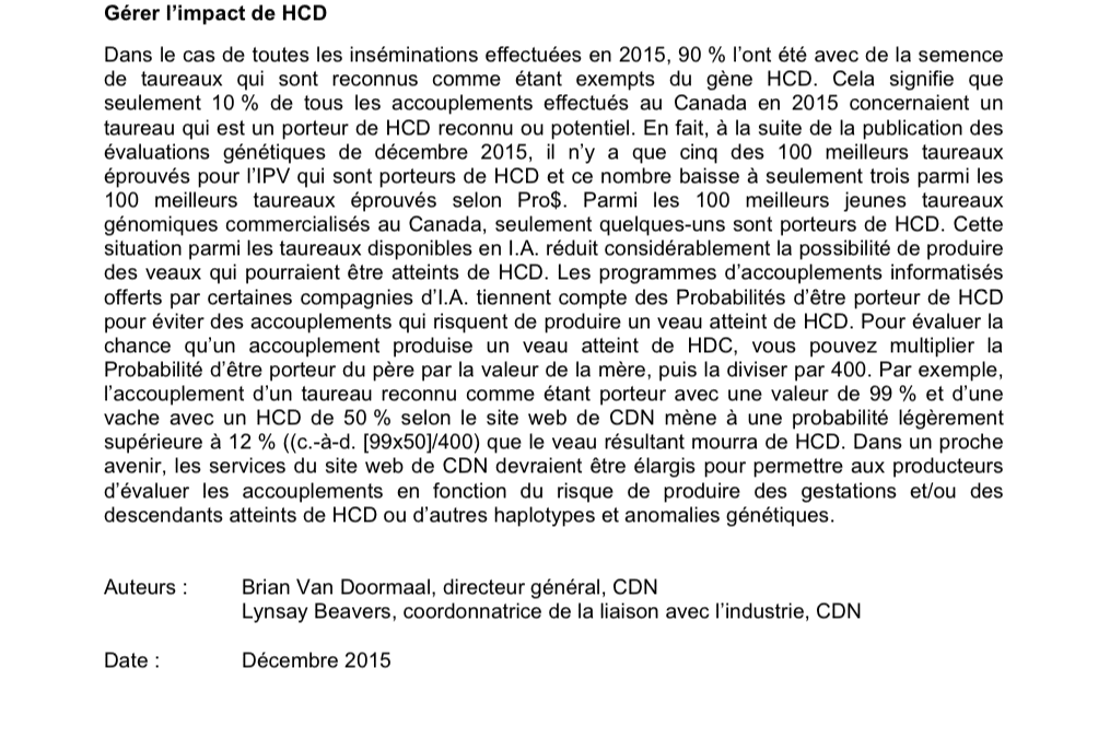 HCD : haplotype associé à la déficience en cholestérol