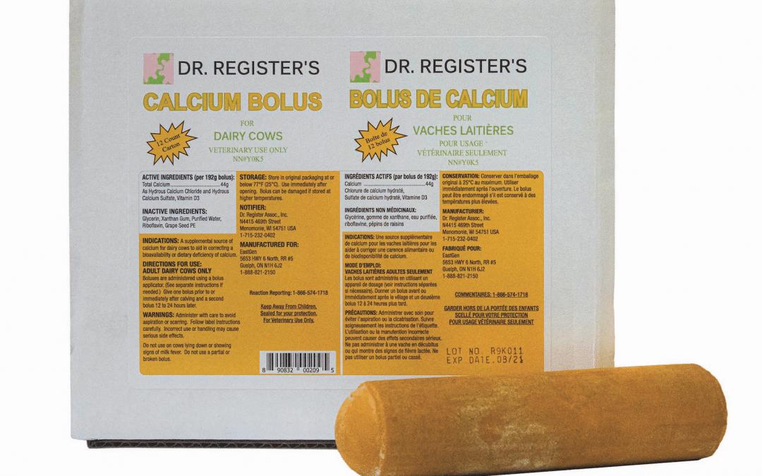Le bolus de calcium est arrivé au Ciaq!